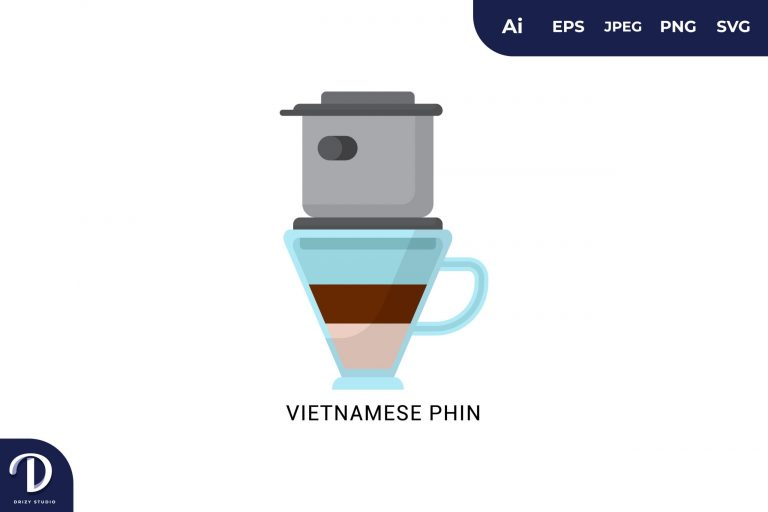 Preview image of Vietnamese Phin Flat Design Coffee Brewing Methods