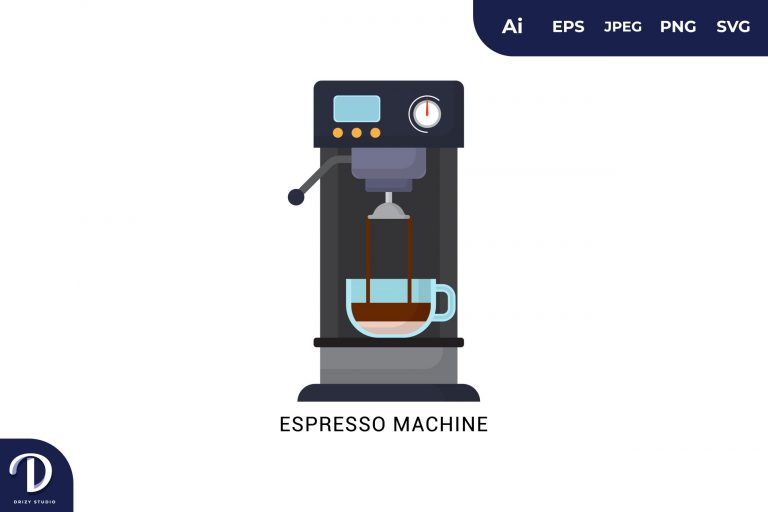 Preview image of Espresso Machine Flat Design Coffee Brewing Methods