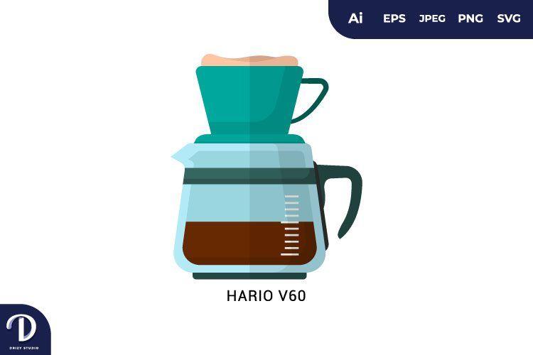 Hario V60 Flat Design Coffee Brewing Methods