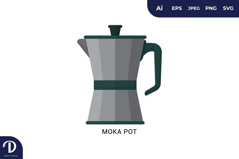 Preview image of Moka Pot Flat Design Coffee Brewing Methods