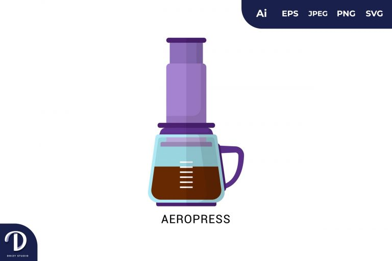 Aeropress Flat Design Coffee Brewing Methods