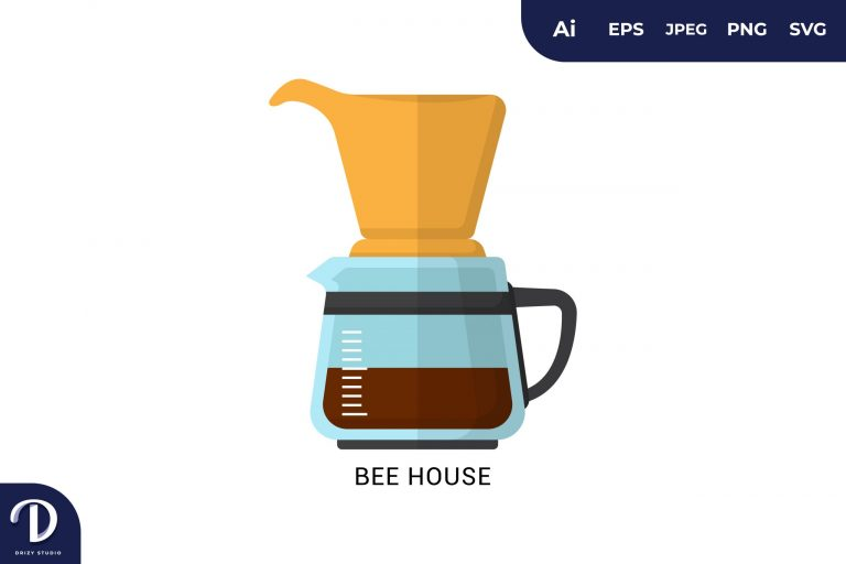 Preview image of Bee House Flat Design Coffee Brewing Methods