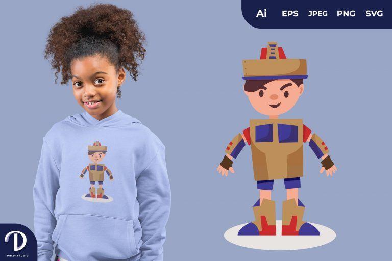 Optimus Prime Flat Adventurous Child Full of Imagination for T-Shirt Design