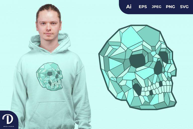 Tosca Geometric Skulls for T-Shirt Design