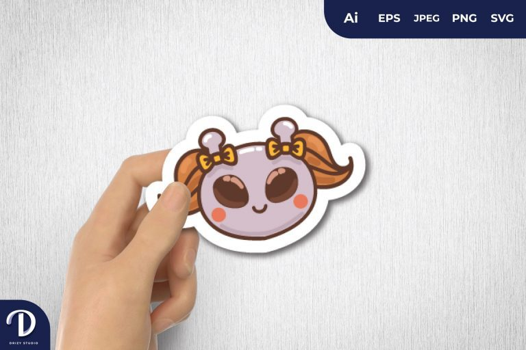 Preview image of Girly Alien for Sticker