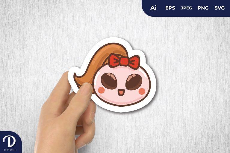 Girly Alien for Sticker