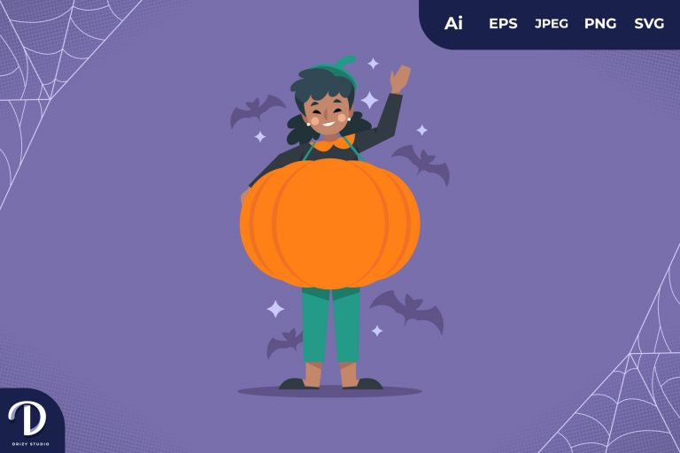 Preview image of Pumpkin Halloween Party Costume