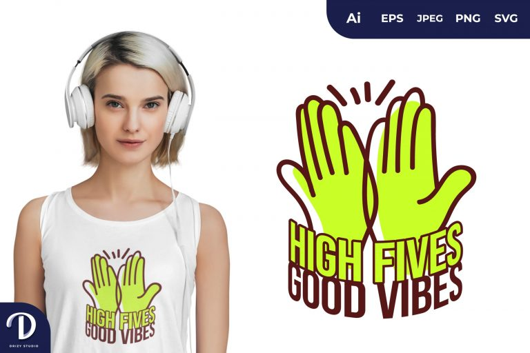 Lime Green High Fives for T-Shirt Design