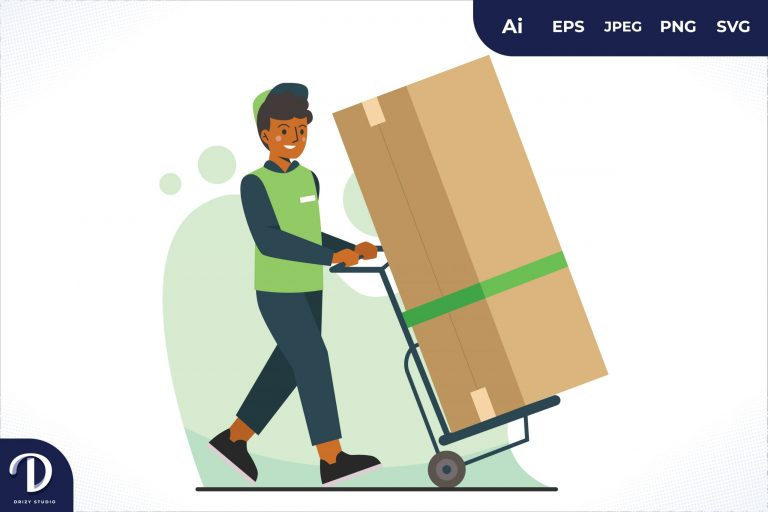 Big Package Home Delivery Worker