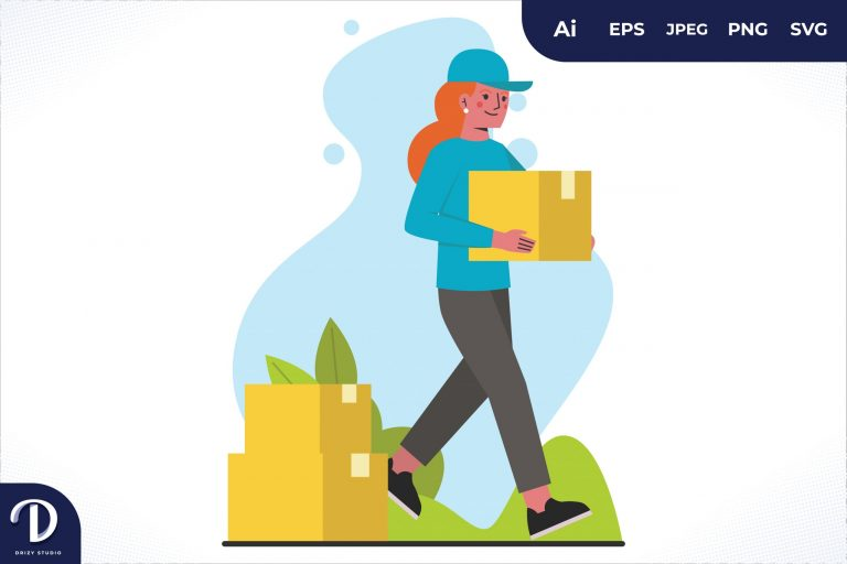 Moving the Package Home Delivery Worker