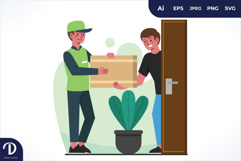 Receiving Home Delivery Worker