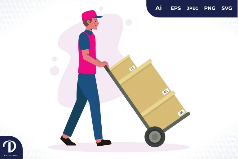 Preview image of Trolley Home Delivery Worker