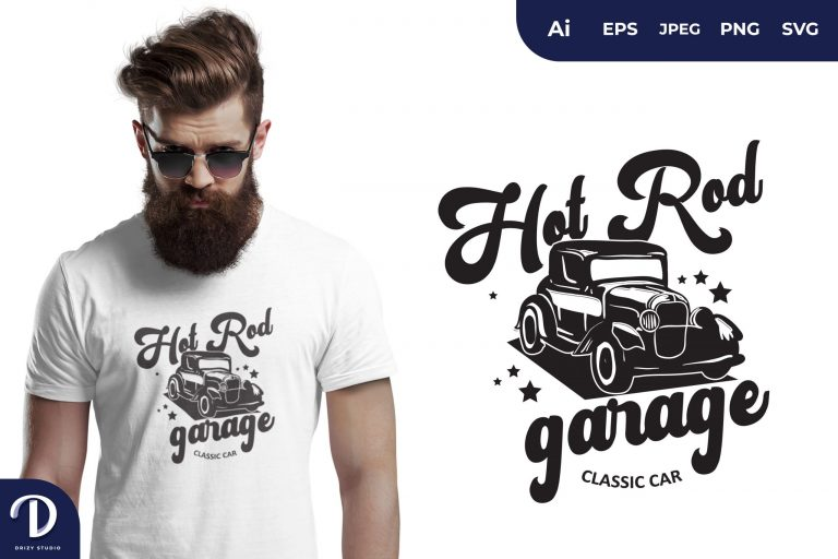 Preview image of Hot Rod Garage for T-Shirt Design