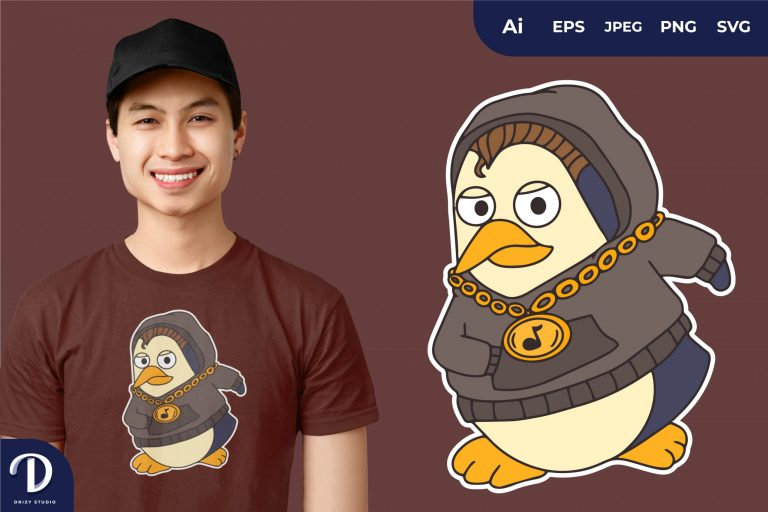 Preview image of Hoodie Hype Penguins for T-Shirt Design