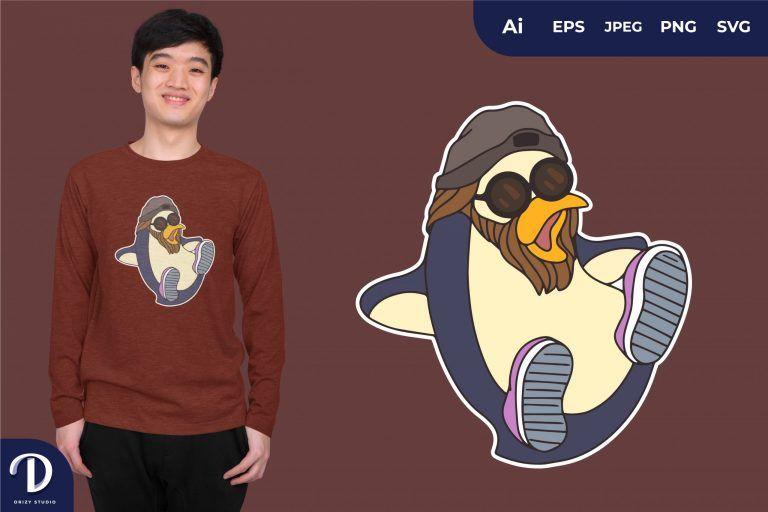 Hype Penguins for T-Shirt Design
