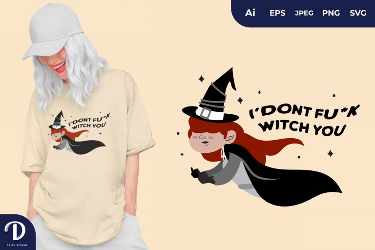 Red Hair I Don't Fu*k Witch You for T-Shirt Design