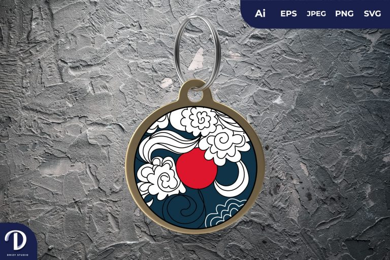 Preview image of Japanese Classic Cloud Keychain