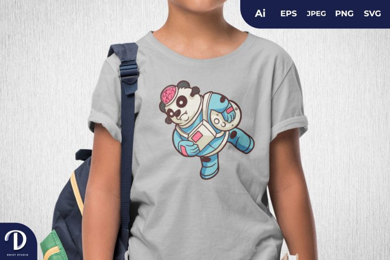 Preview image of Labcraft Panda Astronaut for T-Shirt Design