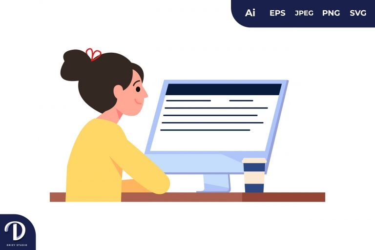 Staring at Monitor Learning Illustration