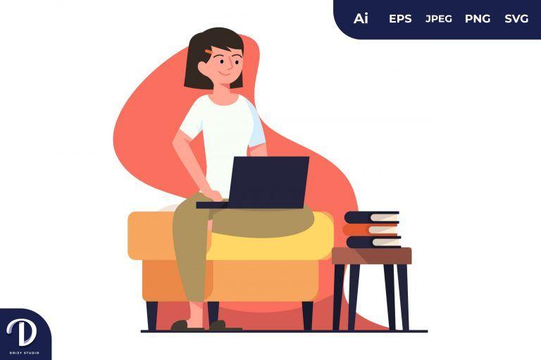 Sitting Learning Illustration