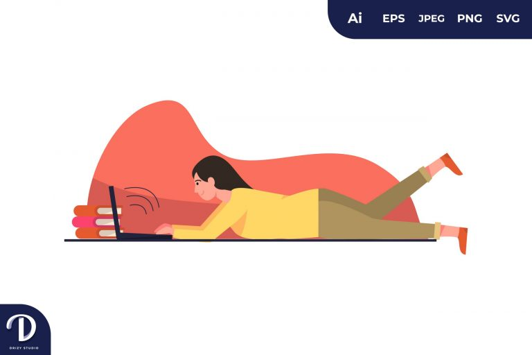 Typing Relaxly Learning Illustration