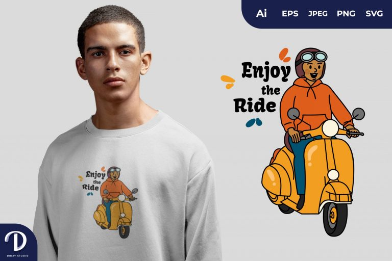 Exotic Man Life is a Journey Enjoy the Ride for T-Shirt Design