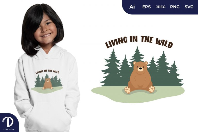 Sit Living In The Wild for T-Shirt Design