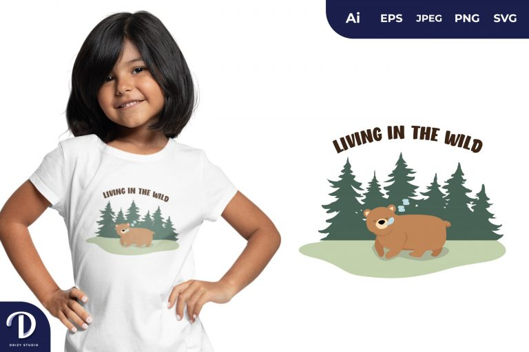 Sleeping Living In The Wild for T-Shirt Design