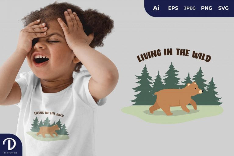 Walking Living In The Wild for T-Shirt Design