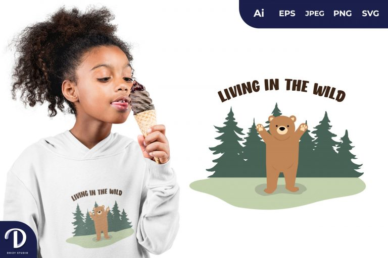 Welcoming Living In The Wild for T-Shirt Design