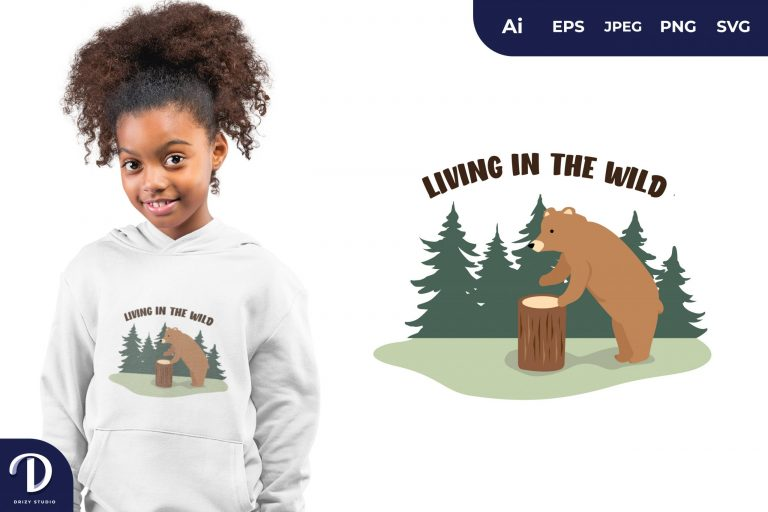 Living In The Wild for T-Shirt Design