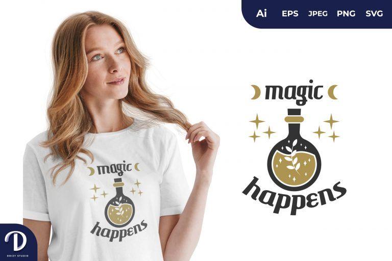 Potion Magic Happens for T-Shirt Design