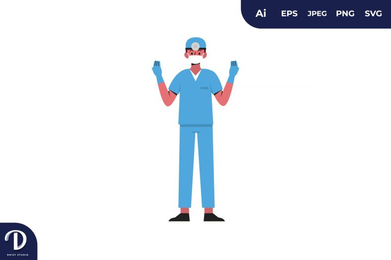 Preview image of Surgery Preparation Medical Team Illustration