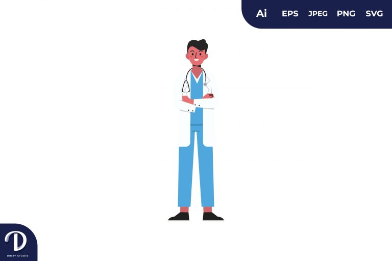 Cool Men Doctor Medical Team Illustration