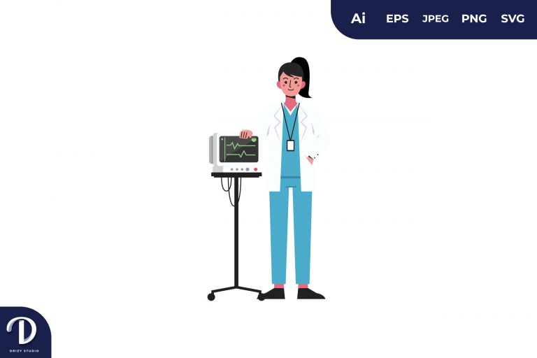 Preview image of Vital Signs Monitor Medical Team Illustration