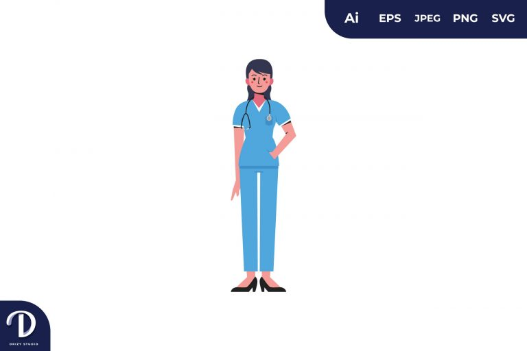 Sweet Women Medical Team Illustration