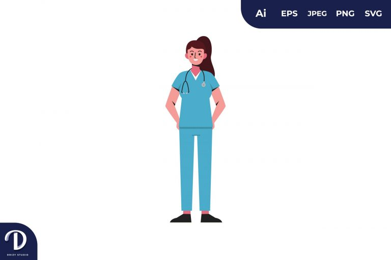 Women Medical Team Illustration