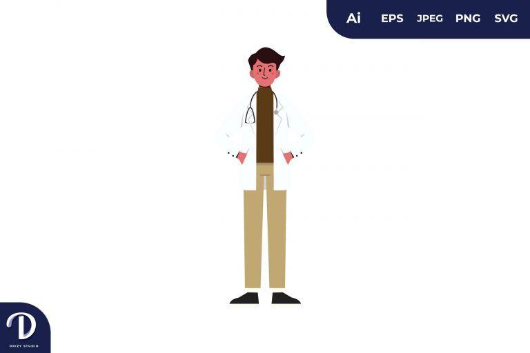 Men Doctor Medical Team Illustration