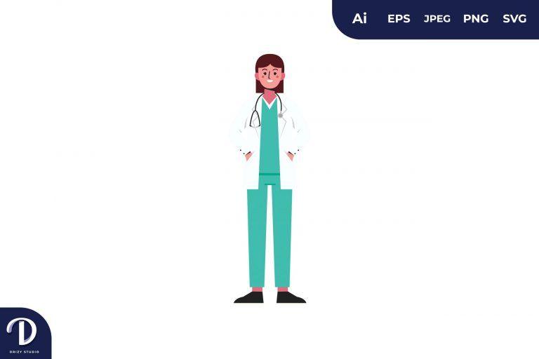 Women Doctor Medical Team Illustration