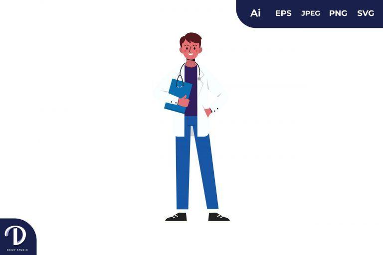 Doctor Medical Team Illustration
