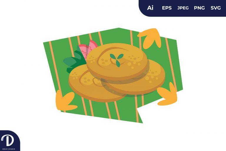 Middle East Food Illustration