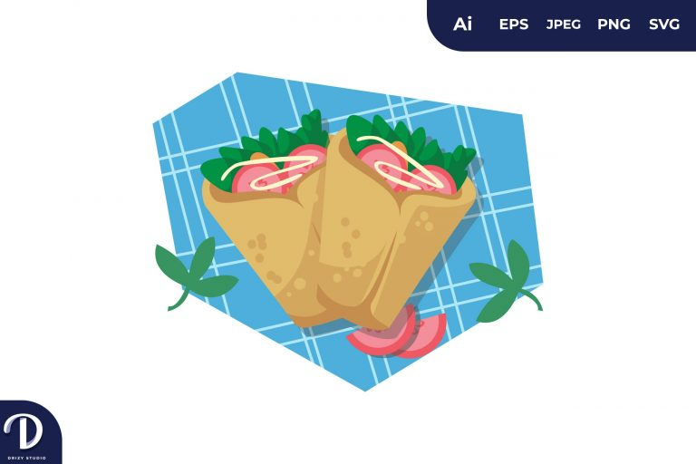 Preview image of Shawarma Middle East Food Illustration