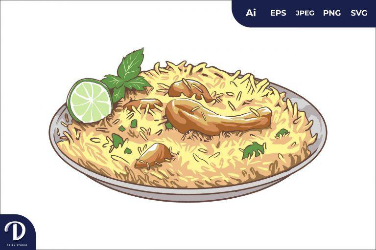Preview image of Kebuli Rice Middle East Food Illustration