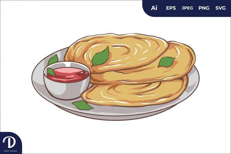 Khubz Middle East Food Illustration