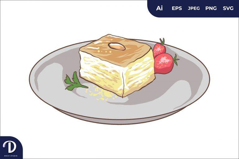 Halva Middle East Food Illustration