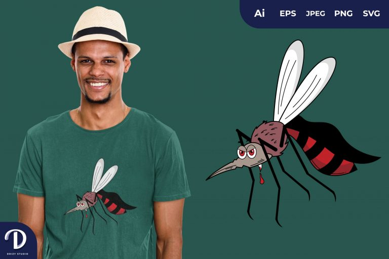 Mosquito Dracula Illustration for T-Shirt Design