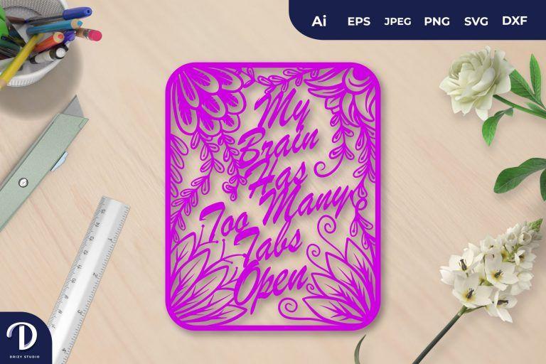 Purple My Brain Has Too Many Tabs Open Papercut