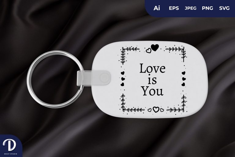 Lovely Frame Keychain