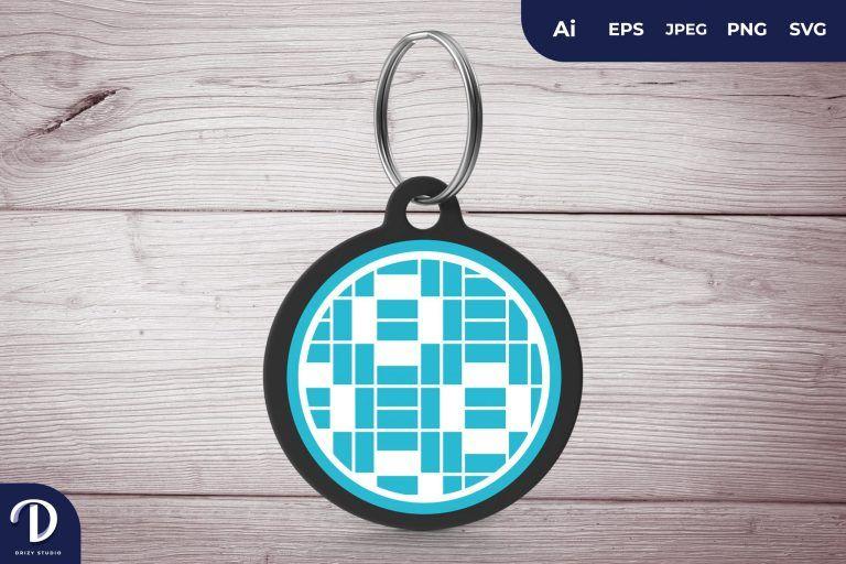 Tosca Circle Pattern Keychain