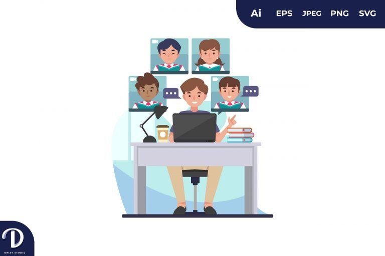 Teaching Class Online Meeting